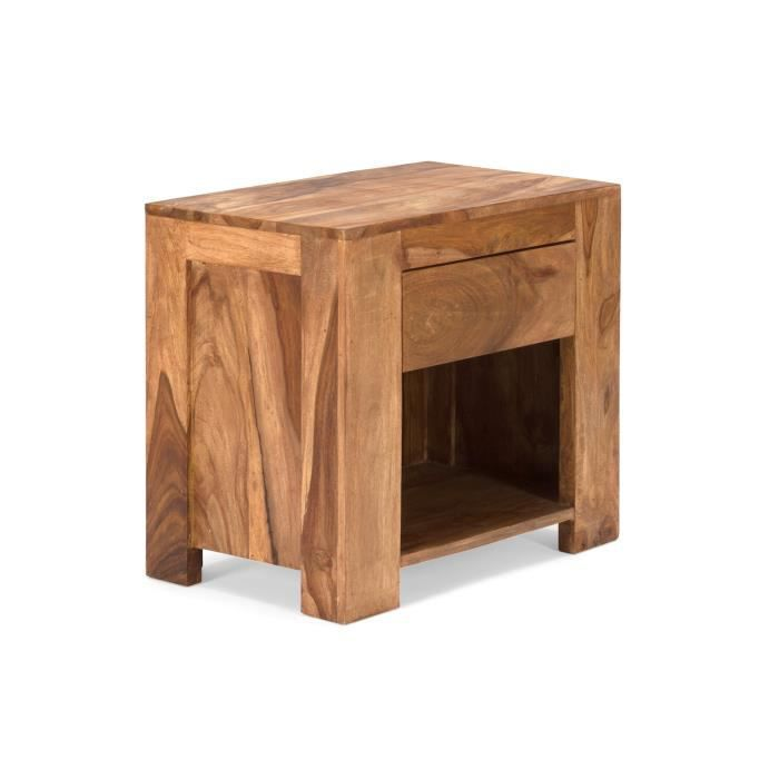 table de chevet stark en palissandre cir 233 teck massivum achat vente chevet table de chevet