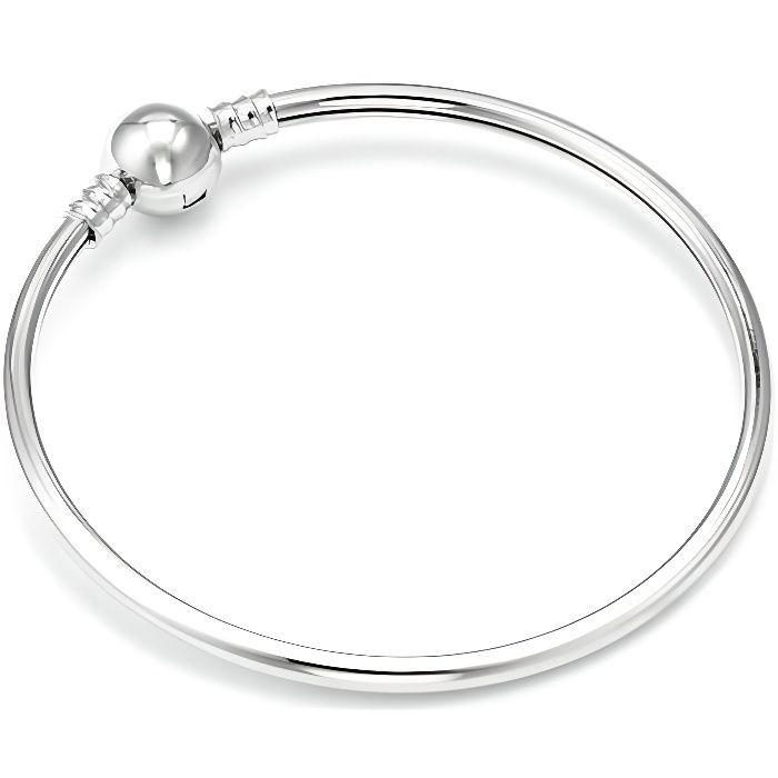 Bracelet Jonc Style Pandora Nu à Charm Argent 925