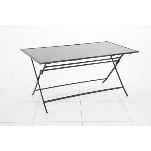 Table d 39 ext rieur pliante flexia 6 places noir achat for Table exterieur pliante