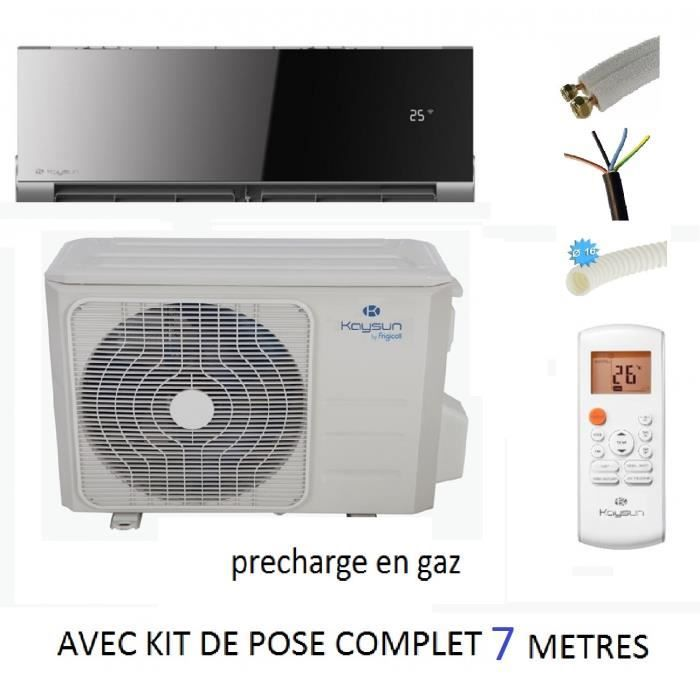 pret a poser nouveau kaysun onnix 3500w reversible inverter kit de pose complet 7 metres. Black Bedroom Furniture Sets. Home Design Ideas