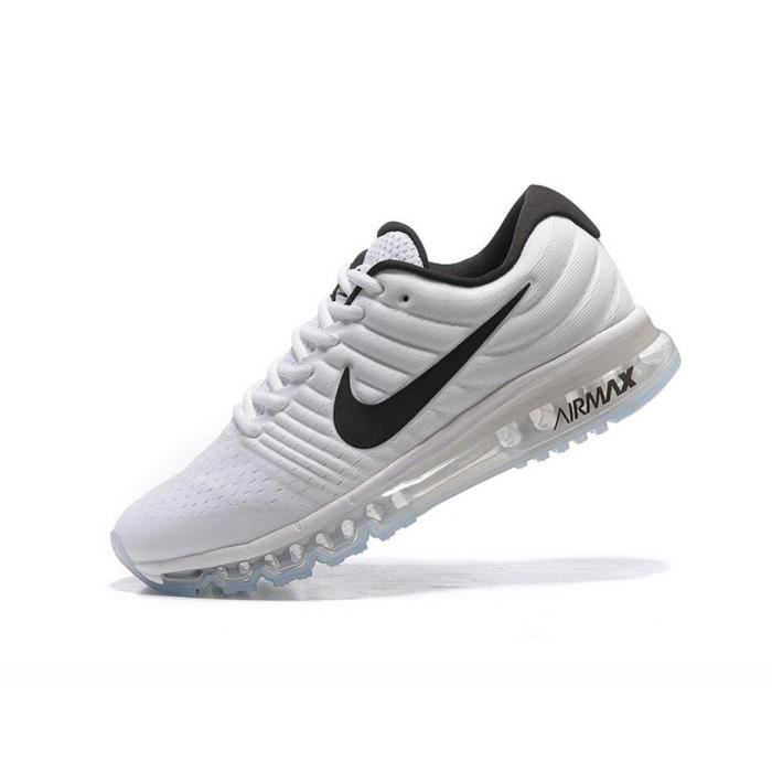 basket nike air max 2017 homme running chaussures blanc et noir 849559 009 tu achat vente. Black Bedroom Furniture Sets. Home Design Ideas