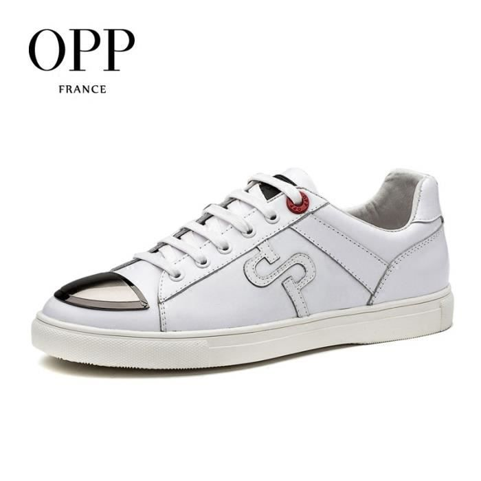 Chaussure BasketCuir Homme Conception unique Chaussures Blanc taille 40 EUOC171107-Blanc map9Qh38