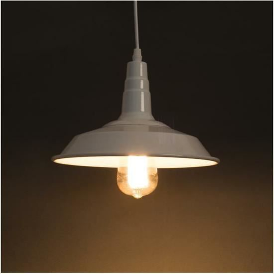 E27 metal retro plafonnier suspensions luminaire for Luminaire suspension industriel