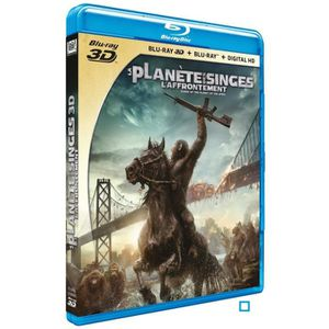 BLU-RAY FILM Blu-Ray 3D PLANETE DES SINGES:AFFRONTEMENT