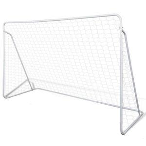 CAGE DE FOOTBALL Cage de but de football en acier peint durable 240