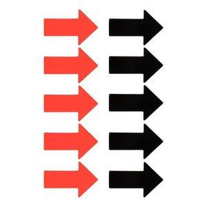 AIMANTS - MAGNETS 10 magnétique flèches - 5 rouges et noires - 4 x 6