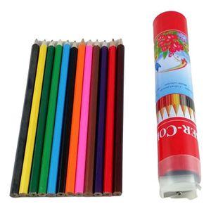 CRAYON DE COULEUR Lot Revendeur 120X crayons de couleur + 12X taille