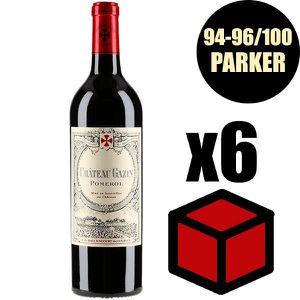 VIN ROUGE X6 Château Gazin 2016 75 cl AOC Pomerol  Vin Rouge