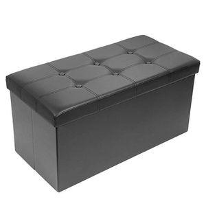 BANC  Ottoman de Rangement Pliable Coffre Cube de Repos