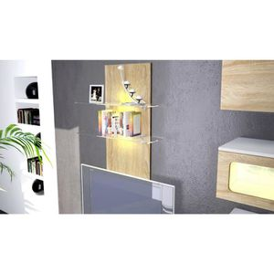 etagere murale en bois brut achat vente etagere murale en bois brut pas cher cdiscount. Black Bedroom Furniture Sets. Home Design Ideas