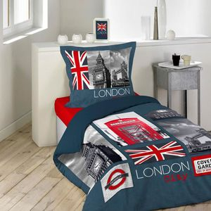 housse de couette london 1 personne achat vente housse de couette london 1 personne pas cher. Black Bedroom Furniture Sets. Home Design Ideas