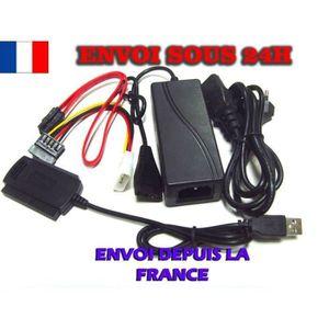 CÂBLE INFORMATIQUE Adaptateur IDE SATA vers USB pour Disque Dur b0683