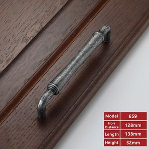5Pcs Whole Length 110mm Dophee vintage Crack Boutons de cabinet Poign/ées de tiroir Laiton antique en c/éramique