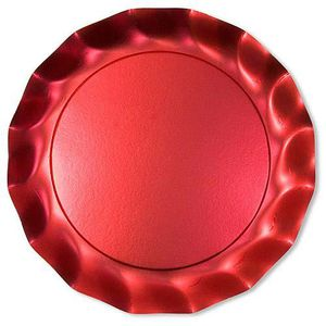 ASSIETTE JETABLE ASSIETTE PLATE X10 ROUGE SATIN