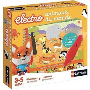 JEU D'APPRENTISSAGE NATHAN Petit Electro - Animaux du Monde NEW PACK