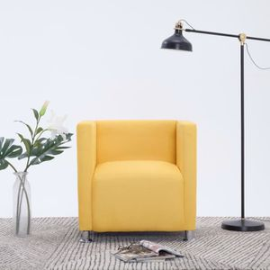 FAUTEUIL Fauteuil cube Jaune Polyester
