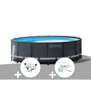 PISCINE Kit piscine tubulaire Intex Ultra XTR Frame ronde