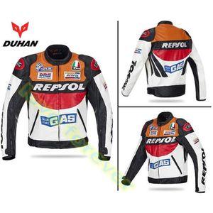 BLOUSON - VESTE DUHAN Moto GP veste de moto en cuir REPSOL Racing
