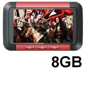 LECTEUR MP4 Baladeur Multimédia MP3-MP4-MP5- 8 Go - Ecran 3