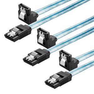 CÂBLE E-SATA L type SATA3 (6.0Gbps) Cable (3 Pack) For sata SSD