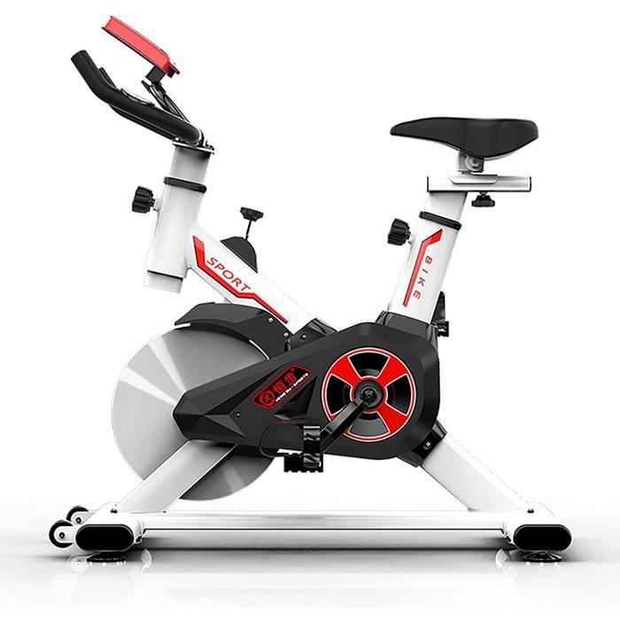 Vélo d'appartement pour fitness, vélo de spinning, écran LCD, Spinning Bike avec résistance illimitée, siège réglable[384]