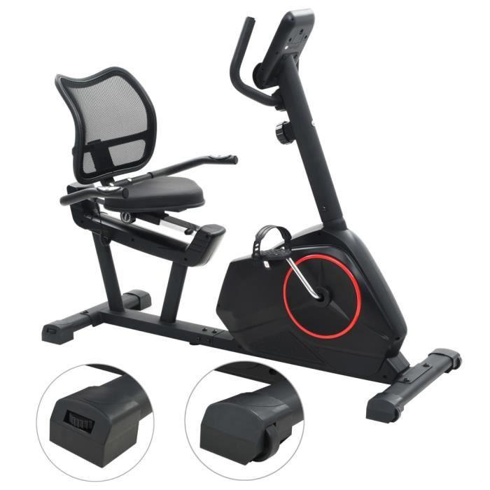 KAI Vélo semi-allongé d'exercice 10 kg Masse rotative