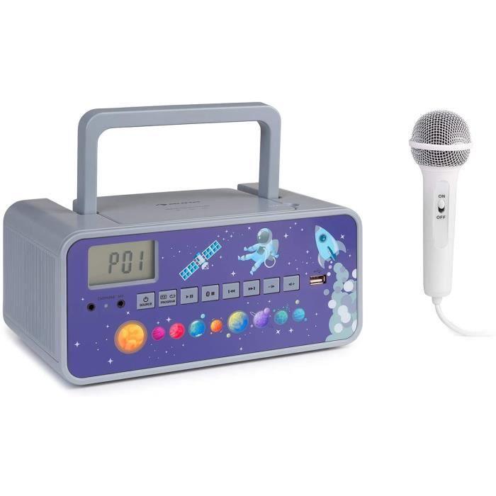 RADIO CD Kidsbox Boombox CD Lecteur CD Micro Portable Bluetooth Port USB eacutecran LCD sur PilesSecteur Prise Casque 35 mm Gr319