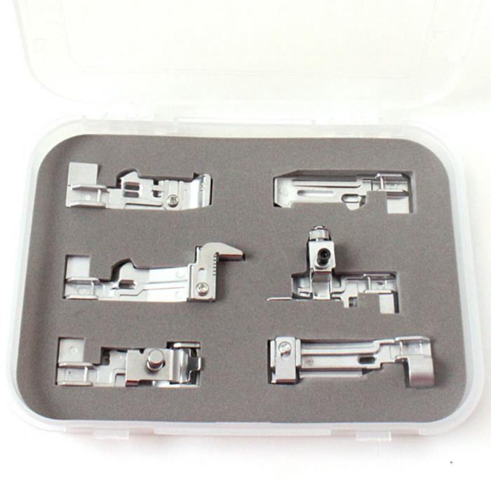 Pour accessoires de machine à coudre domestique SINGER pied-de-biche 6 ensembles Mishuowoti 1018