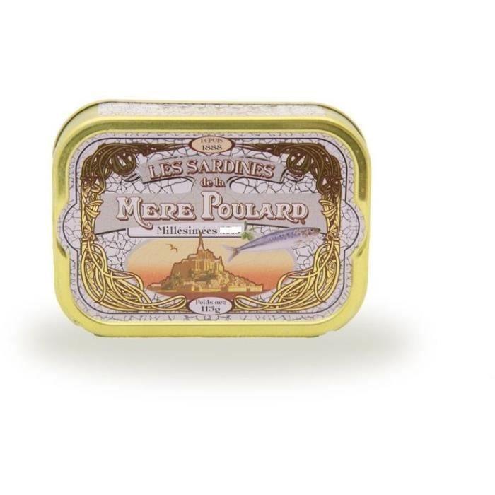 [LOT DE 3] Biscuiterie la Mère Poulard Sardines Millésimées A L'Huile D'Olive (Blanc) 115g