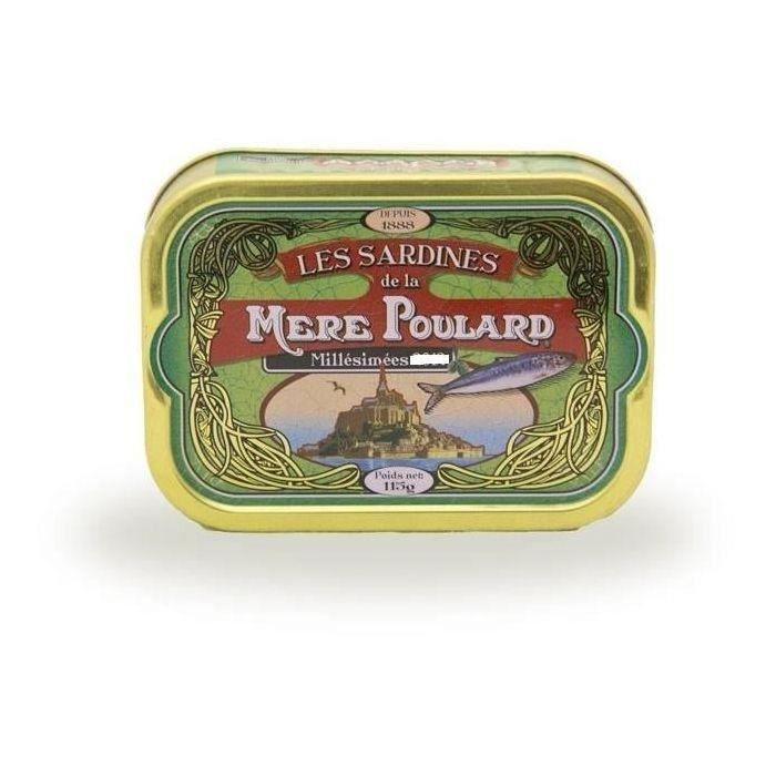 [LOT DE 3] Biscuiterie la Mère Poulard Sardines Millésimées A L'Huile D'Olive (Vert) 115g