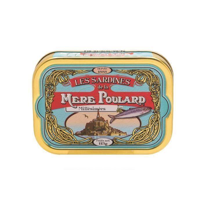 [LOT DE 3] Biscuiterie la Mère Poulard Sardines Millésimées A L'Huile D'Olive (Bleu) 115g