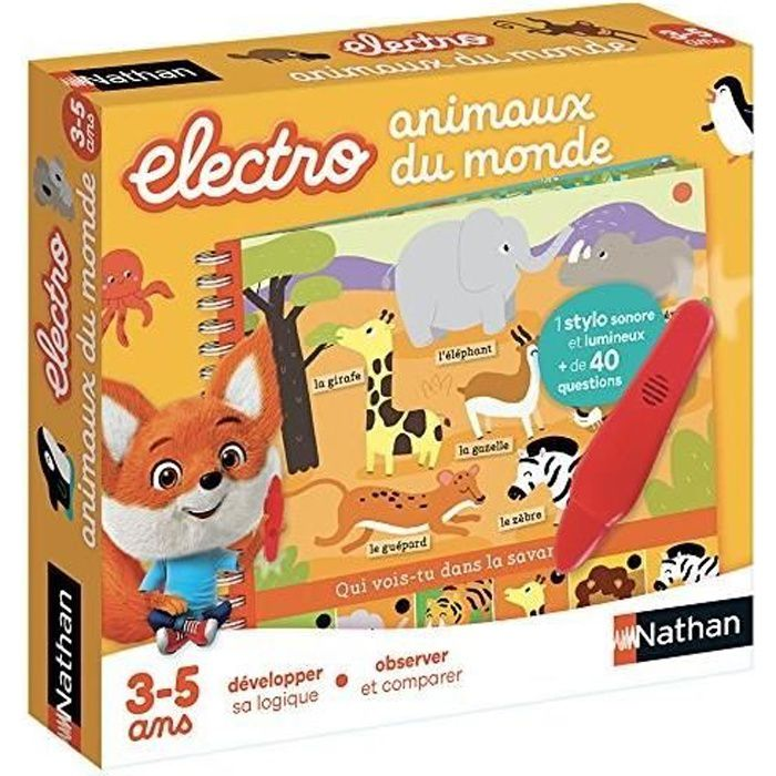 NATHAN Petit Electro - Animaux du Monde NEW PACK