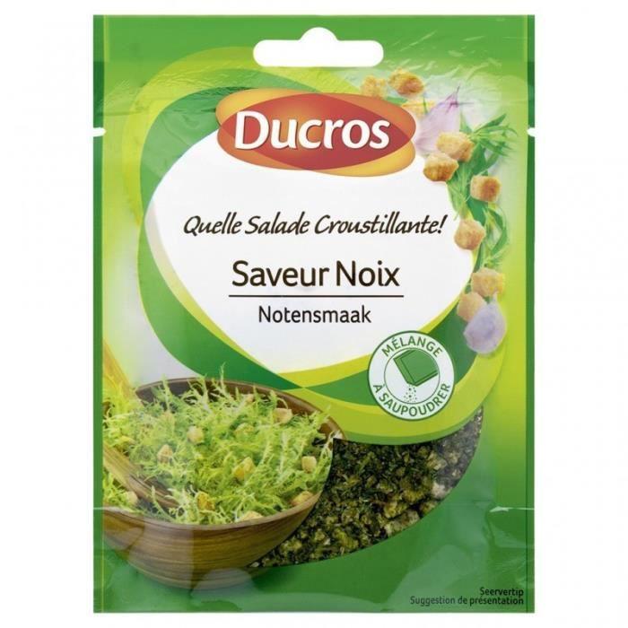 Ducros Quelle Salade Croustillante Saveur Noix Mélange à Saupoudrer 20g (lot de 8)