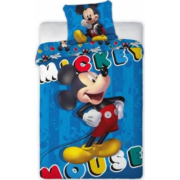 Mickey Disney - Parure de couette 140x200 + taie d'oreiller + Drap Housse 90 x 190 Turquoise - HOMEROKK