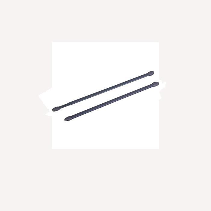 2 tringles pour vitrage à visser anthracite 30 à 45 cm