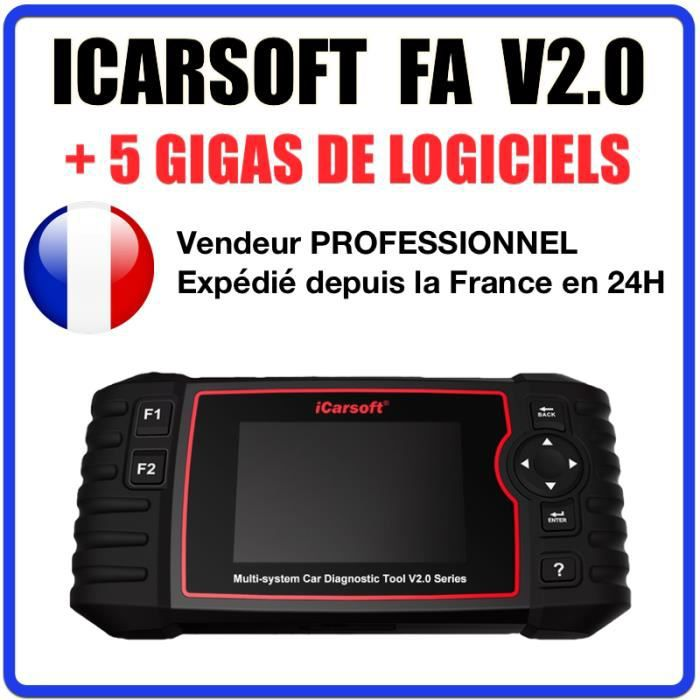 Valise / Interface Diagnostic OBD OBD2 iCarsoft FA V2.0 - Compatible Fiat & Alfa