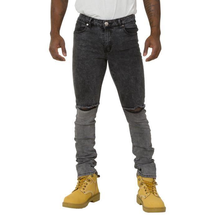 Jeans Homme Slim Fit avec déchirures aux genoux Fini stretch pour plus de confor