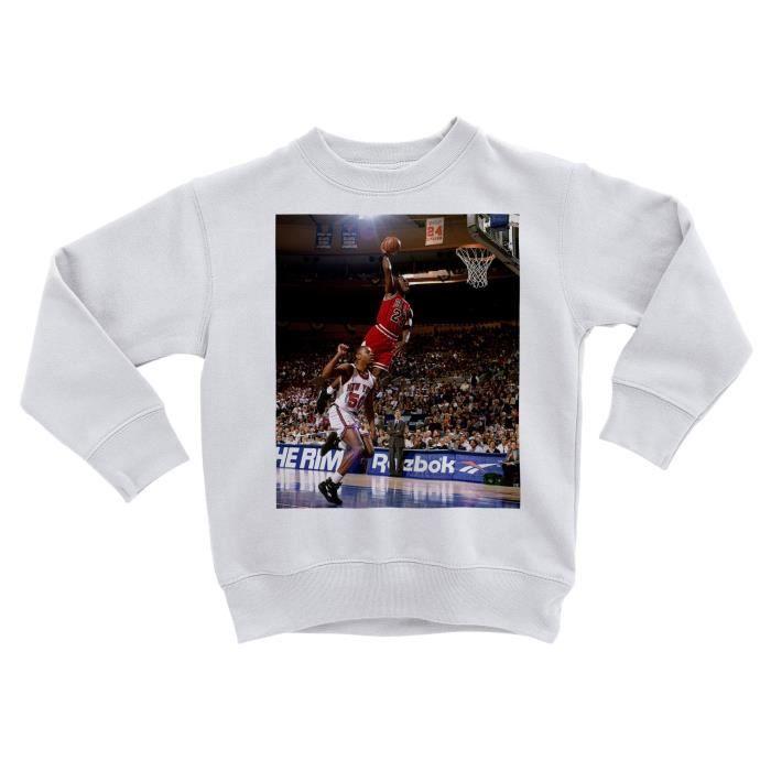 Sweatshirt Enfant Michael Jordan Poster Dunk Chicago Bulls New York