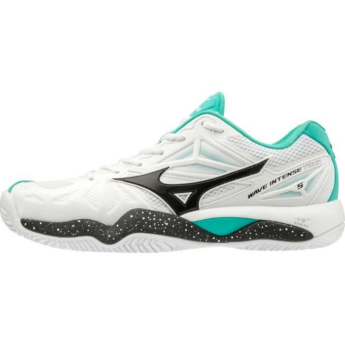Mizuno Wave Intense Tour 5 Clay Hommes Chaussure tennis blanc