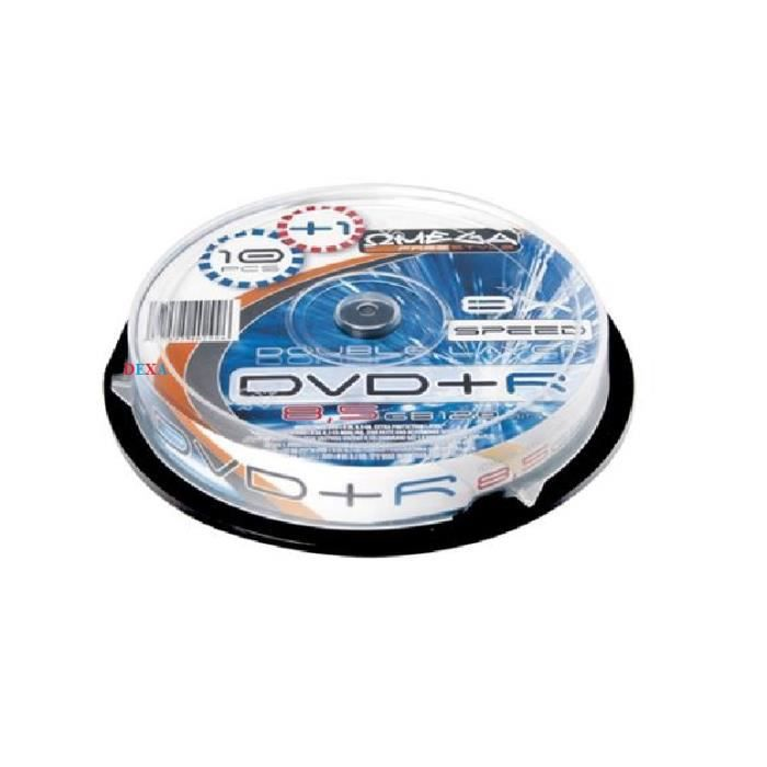 10 Dvd+R Imprimable 8,5Gb Double Layer Omega Freestyle