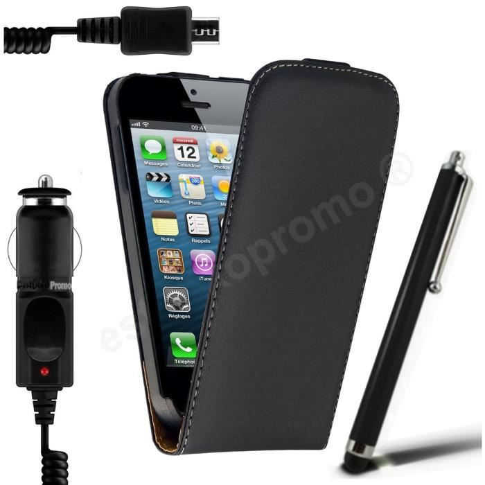 housse etui cuir iphone 5 stylet chargeur achat. Black Bedroom Furniture Sets. Home Design Ideas
