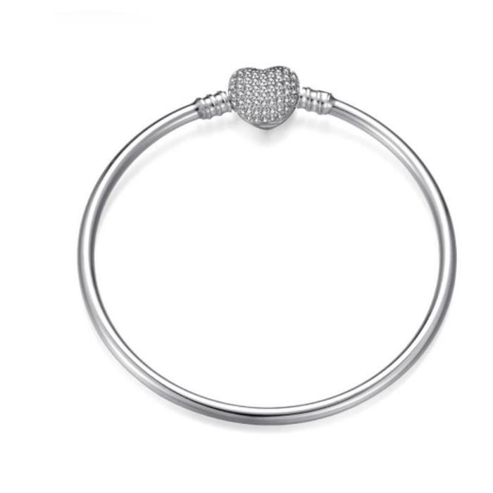 Bracelet Jonc Coeur Nu à Charm's Argent 925 - Achat / Vente ...