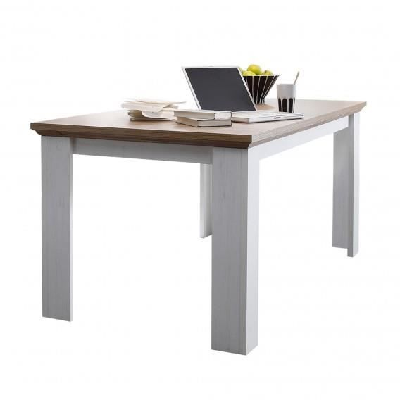 Table Extensible 2 Allonges Country Chene Blanchi Et Chene Naturel