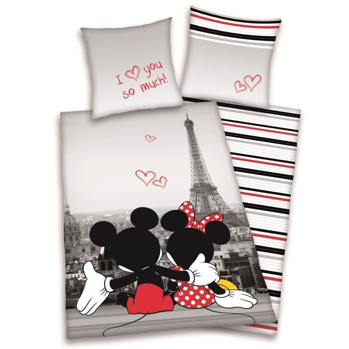 housse de couette mickey. Black Bedroom Furniture Sets. Home Design Ideas
