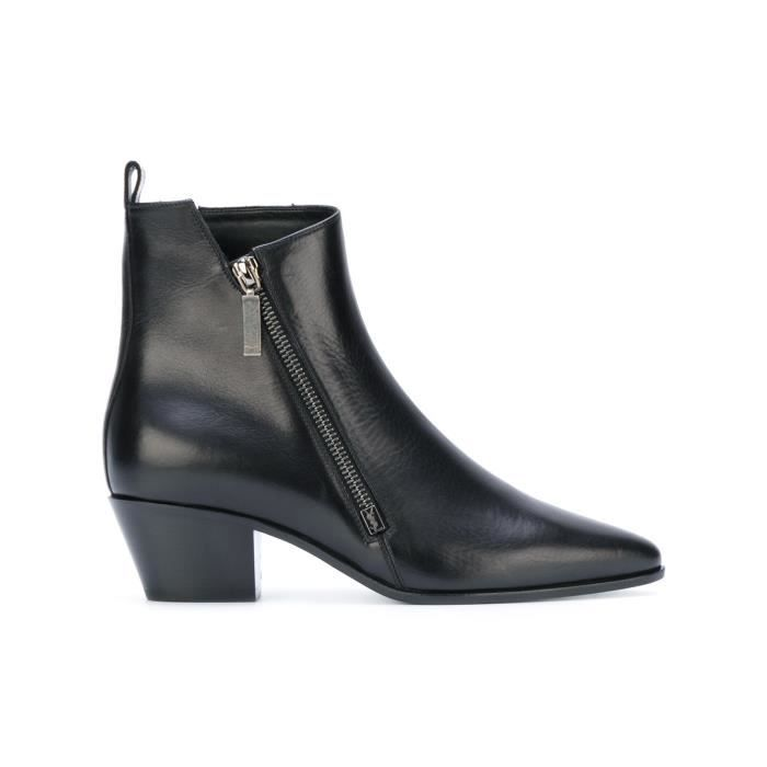 SAINT LAURENT FEMME 4848290AO001000 NOIR CUIR BOTTINES ofczkWTfEK