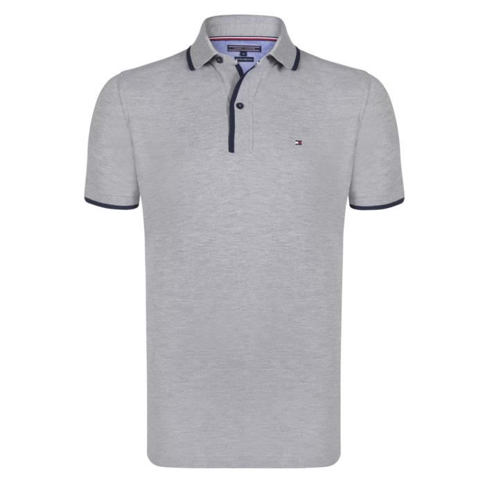 POLO Tommy Hilfiger Polo pour Homme Gris