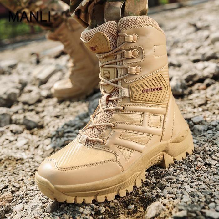 Hommes Outdoor Chaud Chaussures De Randonnée Militaire Tactique Armée Combat Bottes De Combat