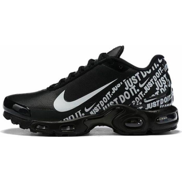 Nike Air Max Plus TN Chaussures de running pour Homme NOIR BLANC ...