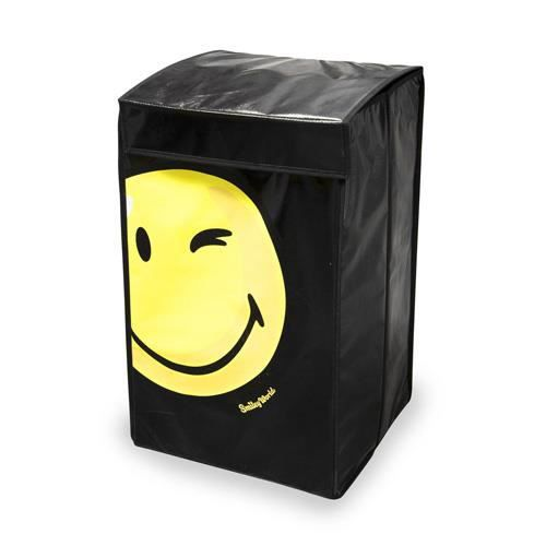 panier linge smiley noir achat vente panier a. Black Bedroom Furniture Sets. Home Design Ideas