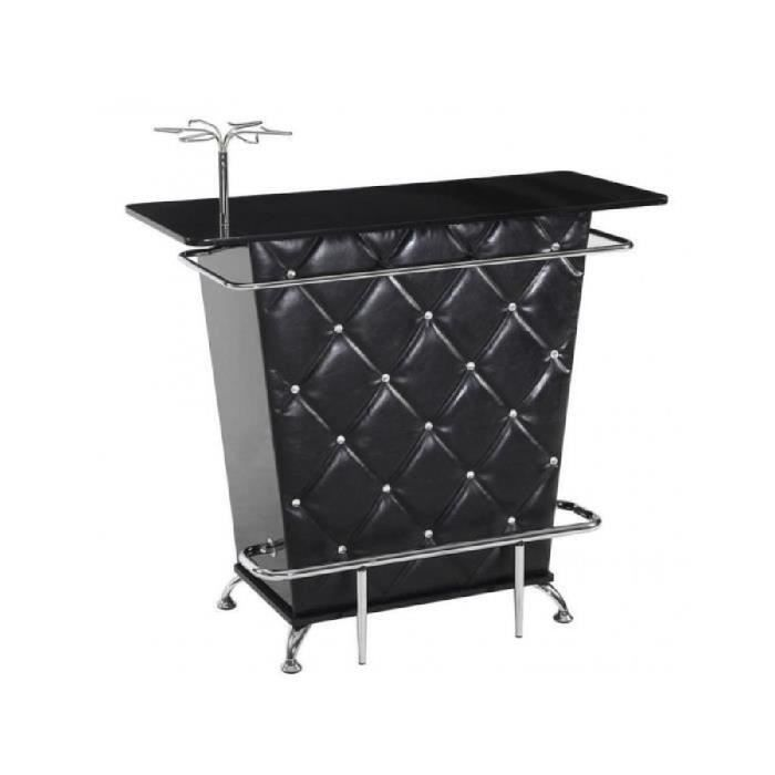 Meuble de bar clay simili strass noir achat for Meuble bar noir